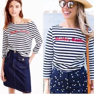 J. Crew Hello Sailor Nautical Striped Top Medium